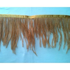 Fringe with feathers - skin color