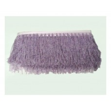 Fringes with beads 10 cm - lilac